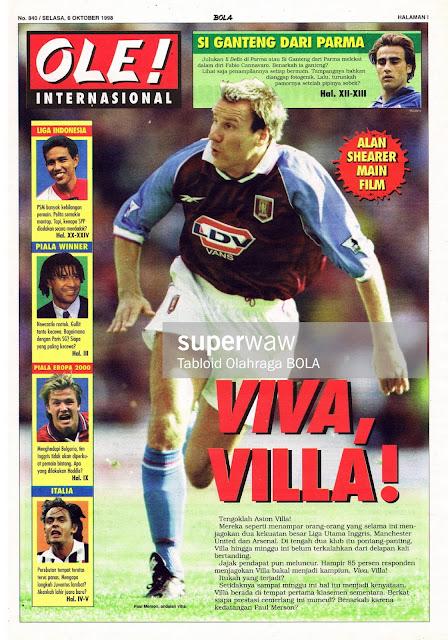 PAUL MERSON ASTON VILLA 1998