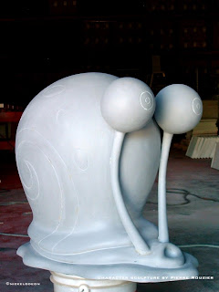 "pierre rouzier_Universal Studios x Nickeldeon ""gary the snail"" sculpture"