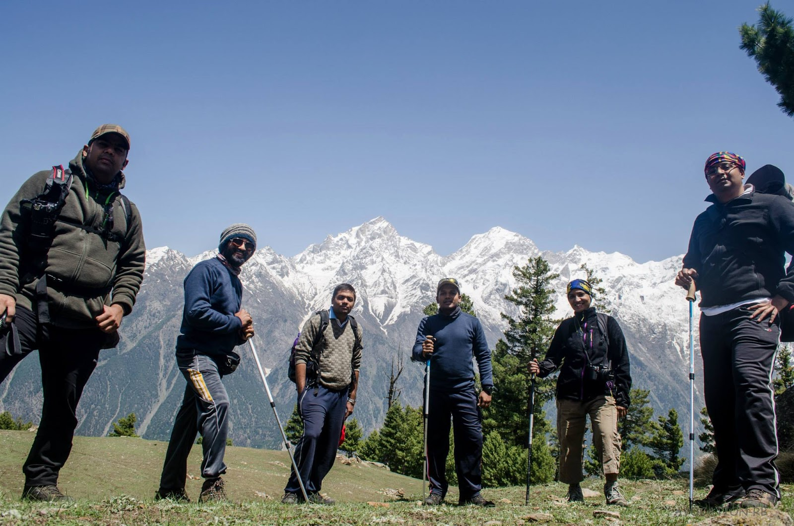 Hike to Chaka meadows , Kalpa , Kinnaur.