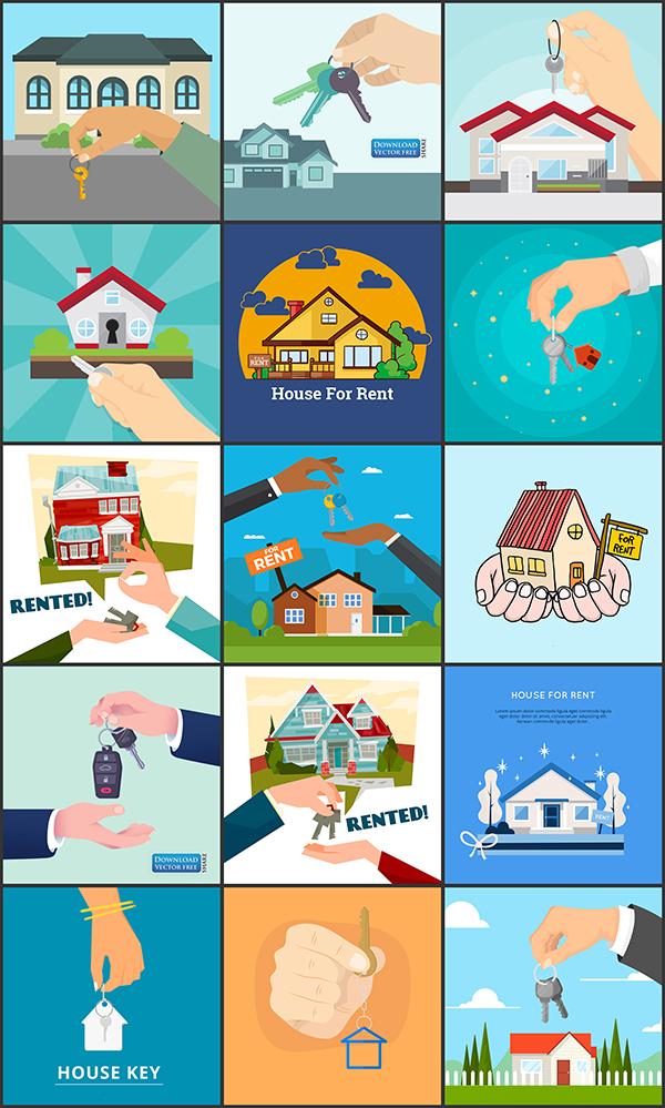 15-nen-do-hoa-quang-cao-cho-thue-nha-house-rent-vector-8777