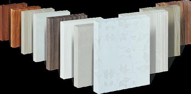 Tấm ván nhựa cao cấp phủ lớp bề mặt vân gỗ PVC