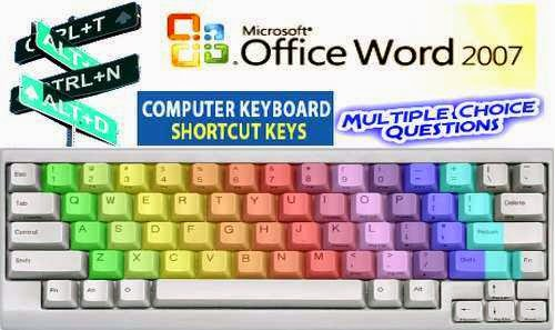 Microsoft Word 2007 Keyboard Shortcut Keys MCQ Questions With Answers Set 2