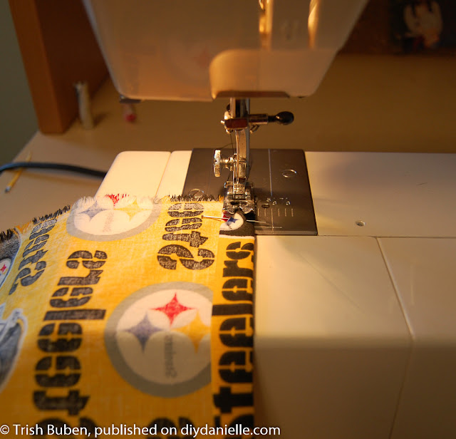 Sewing a pillowcase dress.