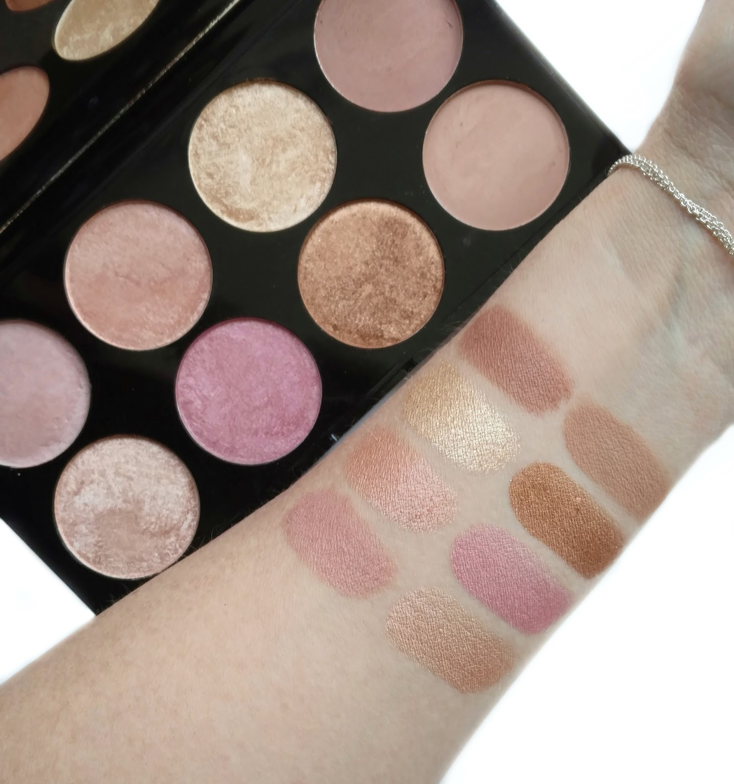 Because of the shade selection, I feel that this palette would be best suited toward fair to medium skin and may not show up on deeper skin tones.