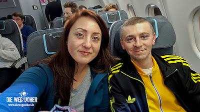 Arkadij und Katja aus Bremerhaven fliegen nach Kapstadt
