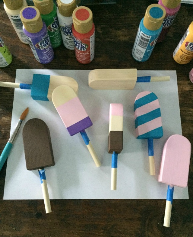 how to make wood popsicles