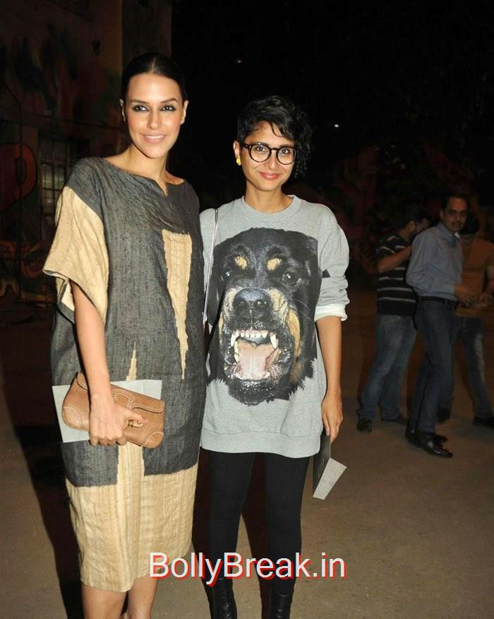 Neha Dhupia, Kiran Rao, Lakme Fashion Week 2015 - Deepika, Kajol, Sridevi at Sabyasachi Fashion Show