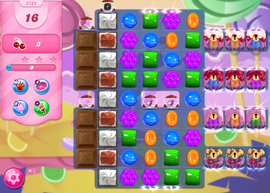 Candy Crush Saga level 3124