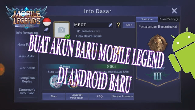 TUTORIAL!! CARA MENGGANTI AKUN MOBILE LEGENDS