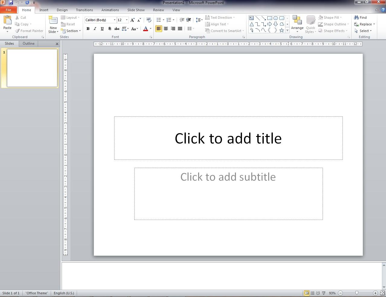 Area Kerja Ms Powerpoint Dikenal Dengan Istilah