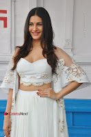 Telugu Actress Amyra Dastur Stills in White Skirt and Blouse at Anandi Indira Production LLP Production no 1 Opening  0024.JPG