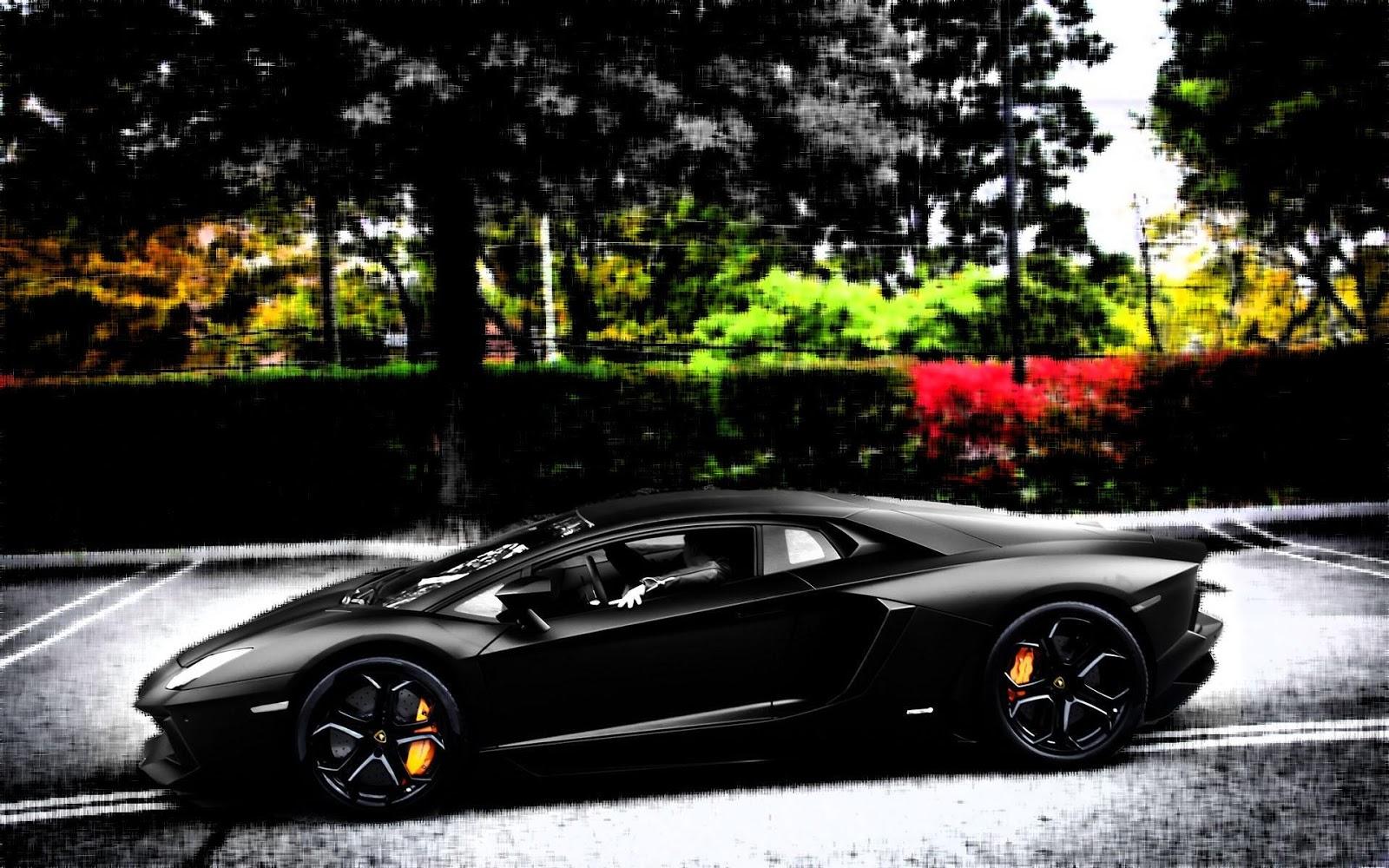 Black Car Lamborghini   Full HD Desktop Wallpapers 1080p