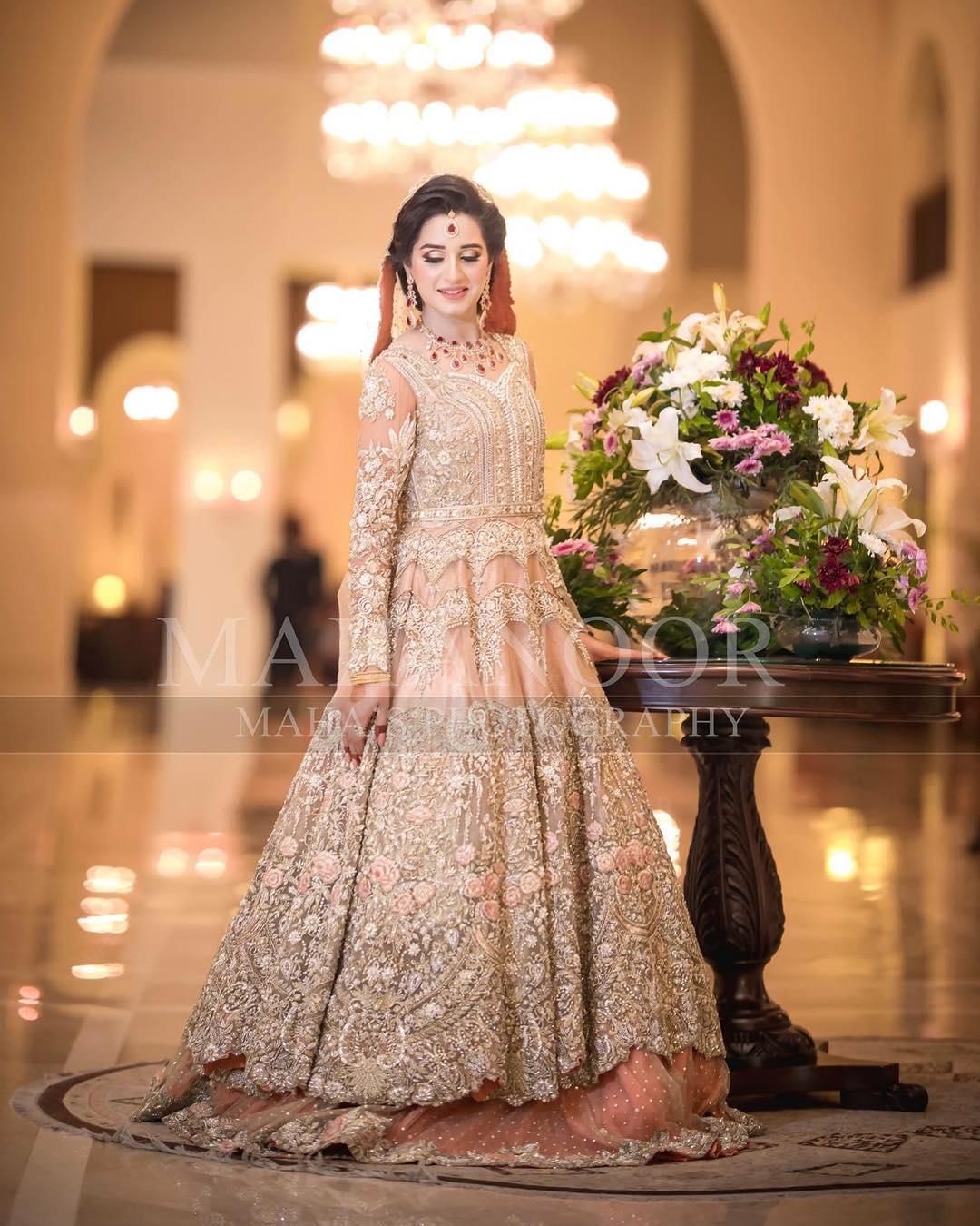 New Pakistani Bridal Dress In Light Colours 2018-19
