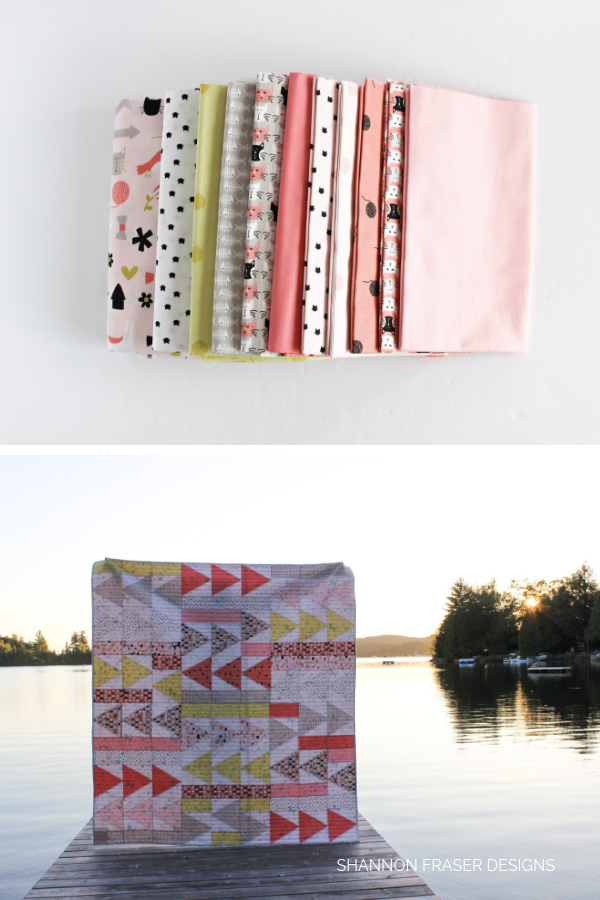 Flight Plan quilt fabric bundle and quilt in the wild | Shannon Fraser Designs