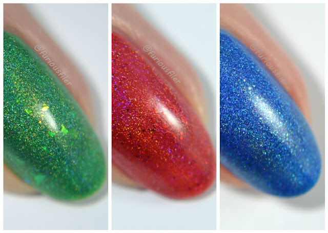 celestial cosmetics valyrio collection holographic review furiousfiler macro