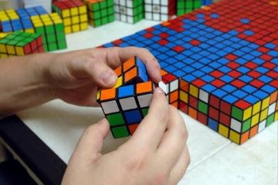 Arte con cubos de Rubik