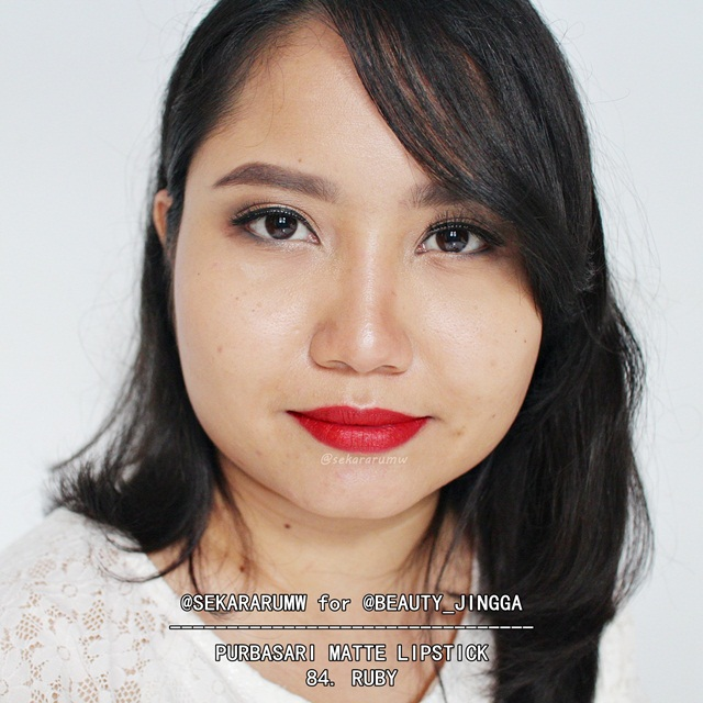 Purbasari Matte Lipstick 83 Piruz 84 Ruby