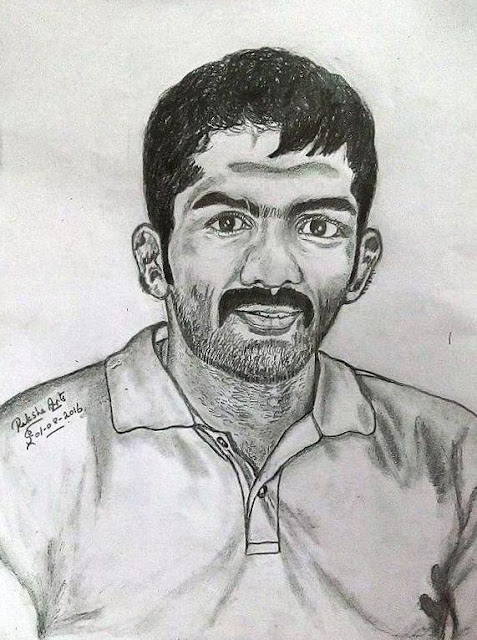 PENCIL DRAWING - Yogeshwar Dutt