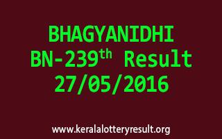 BHAGYANIDHI BN 239 Lottery Result 27-5-2016
