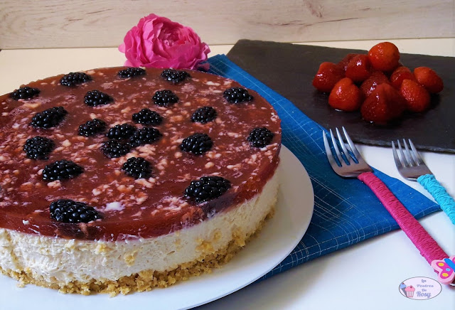 cheesecake, tarta de queso sin horno, sin lactosa, sin glúten