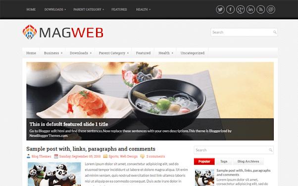 MagWeb Free Blogger Template