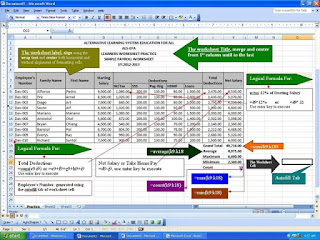 Simple Payroll Using MS-Excel 2007