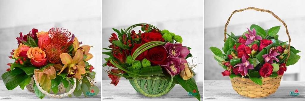 cele mai frumoase cosuri flori trandafiri