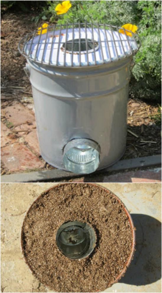 5.%2BDIY%2BUpcycled%2BBucket%2BRocket%2BStove 15 DIY Genius Project Ideas For Repurposing Old Gallon Buckets Interior