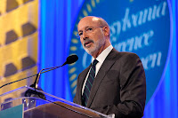 "Gov. Tom Wolf's first economy-wide greenhouse gas reduction goal for Pennsylvania is in line with the U.S. Paris climate agreement pledge but doesn't go beyond it. ""What I try to make sure is that what I do is not too much, but not too little,"" he said. (Credit: Marla Aufmuth/Getty Images) Click to Enlarge."