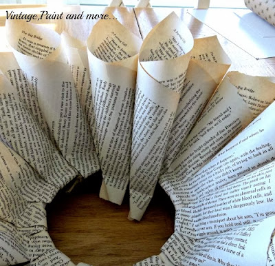 Book Page Wreath Tutorial - continuing last row placement