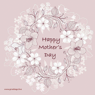 Happy Mother Day wishes hand painted flowers
