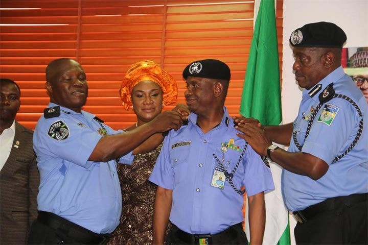 Outgoing IGP of Police Solomon Arase decorates newly-promoted officers