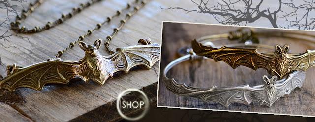 Elvira Bat Jewelry by Sweet Romance
