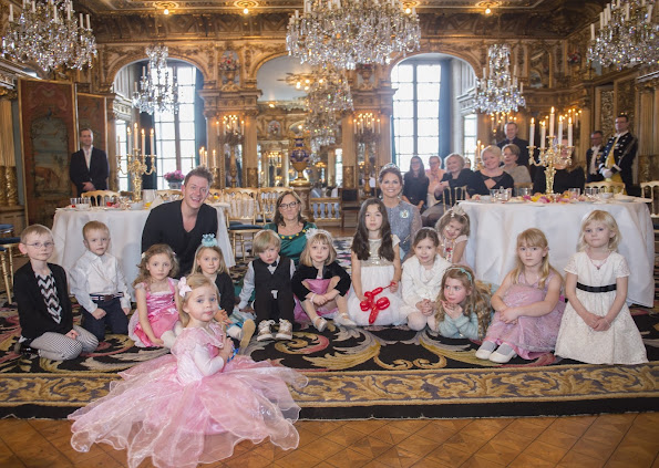 "Princess Madeleine of Sweden held a party with the theme of ""Fairytale"" (Sagokalas) for Min Stora Dag at the Royal Palace"