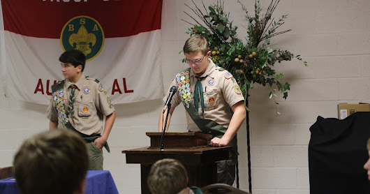 Troop concludes calendar year with annual court of honor