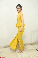 Taapsee Pannu looks mesmerizing in Yellow for her Telugu Movie Anando hma motion poster launch ~  Exclusive 071.JPG