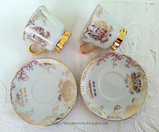Xícaras Bodas de Ouro