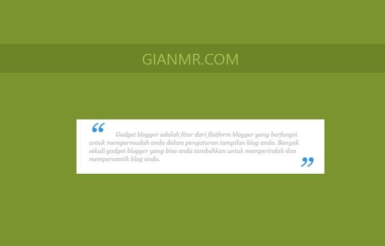 CSS blockquote cantik dan sederhana di blogger atau blogspot