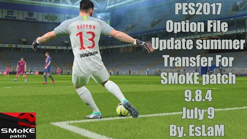 PES2017 Option File Update SMoKE Patch 9.8.4 By EsLaM