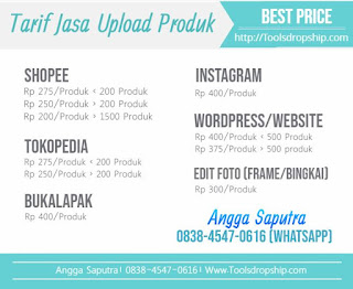 Upload Produk Termurah, Upload Produk Massal Tokopedia Bukalapak Shopee Lazada Wordpress Instagram, Jasa Upload Murah