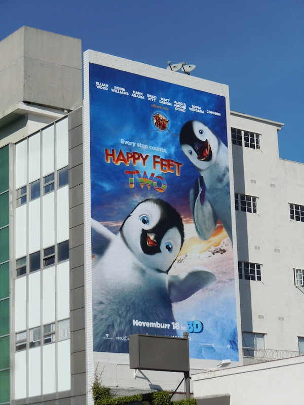 Huge Happy Feet Two billboard
