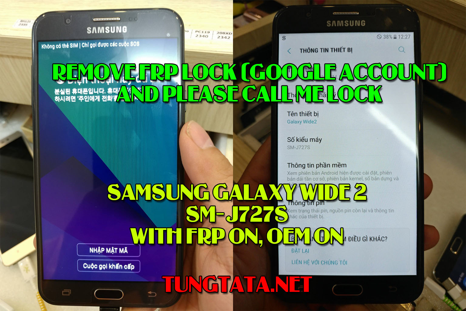 Samsung J727S remove FRP lock, remove Please call me lock