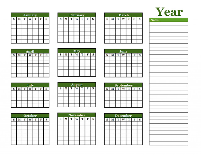 2k17 Calendars Collection, year 2017 full blank calendar