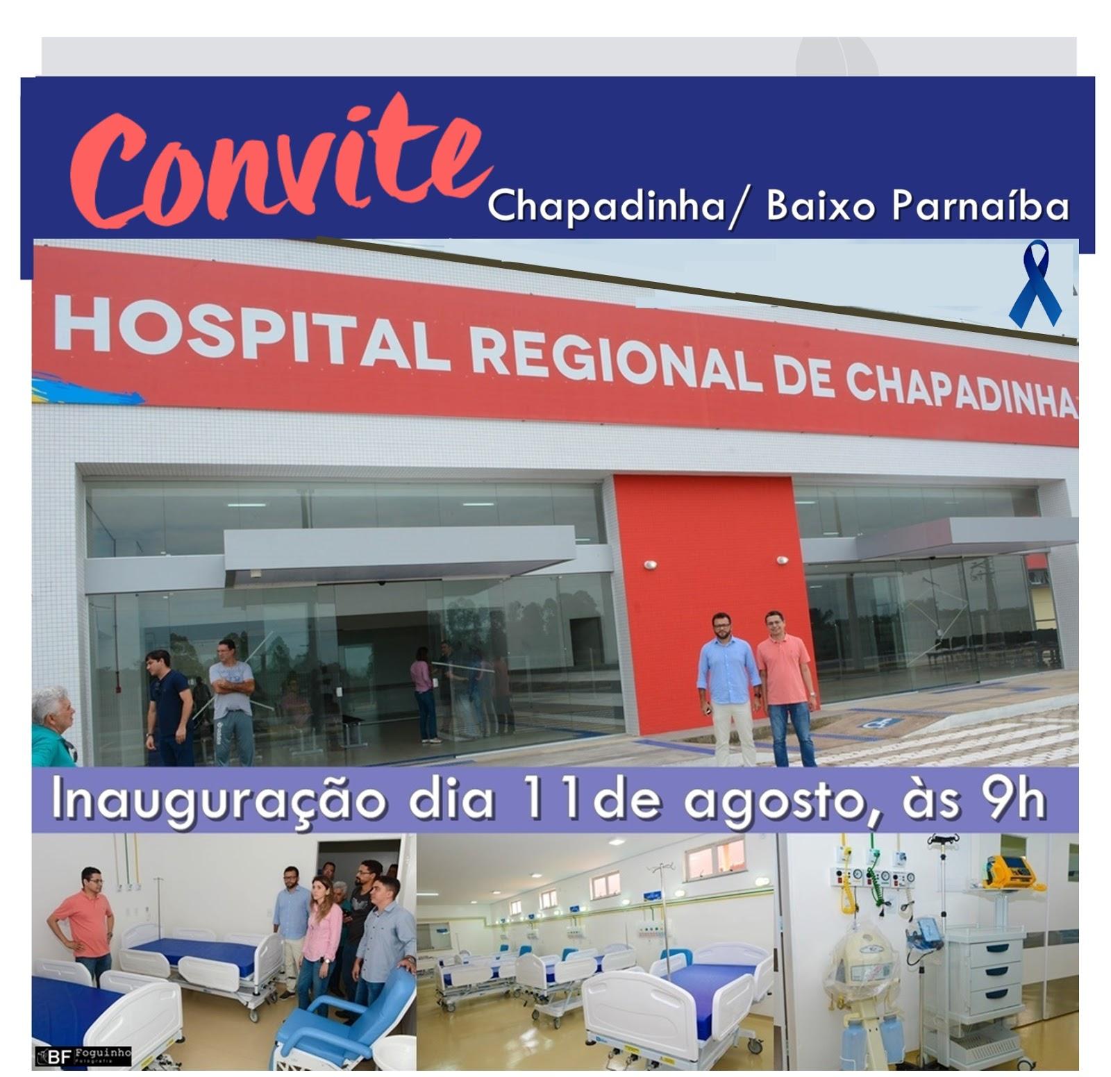 Convite: Hospital Regional de Chapadinha será inaugurado neste sábado, dia 11.