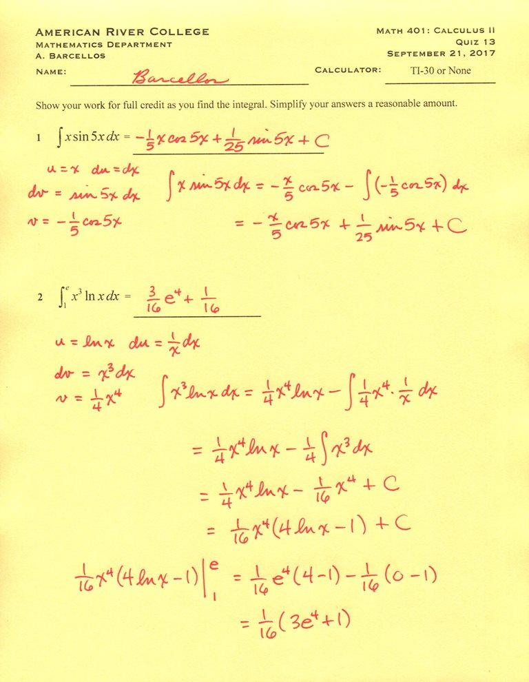 Mr B\'s Math Blog: Math 401 (fall 2017): Quiz solutions II