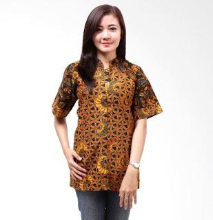 Model Baju Kemeja Batik Wanita Sederhana