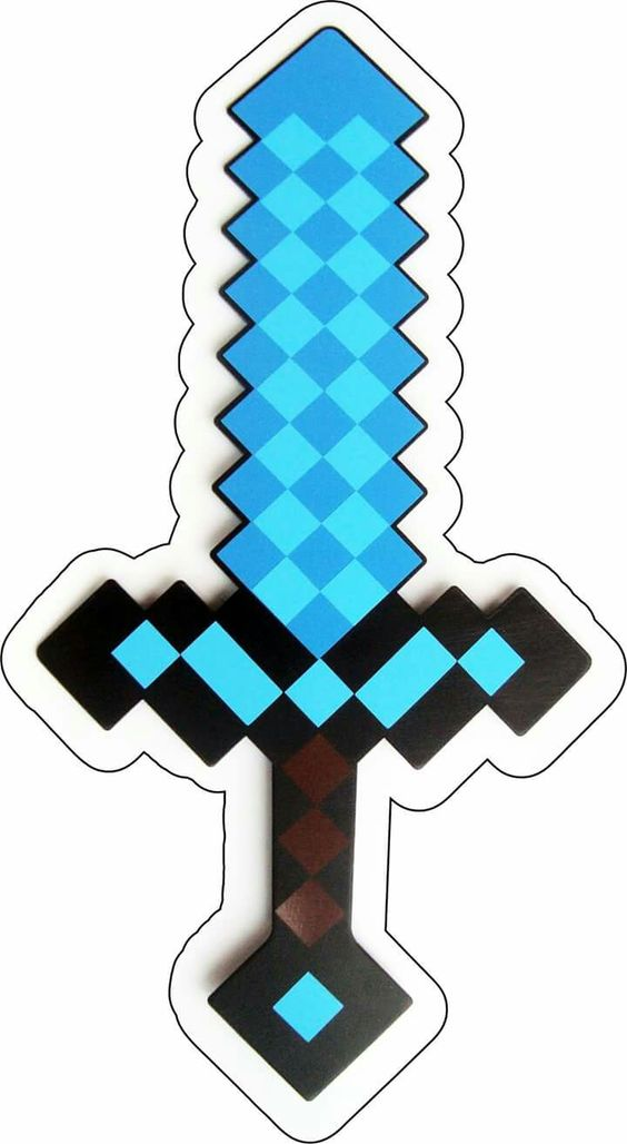 picture relating to Minecraft Sword Printable named Minecraft Absolutely free Printable Sword. - Oh My Fiesta! for Geeks