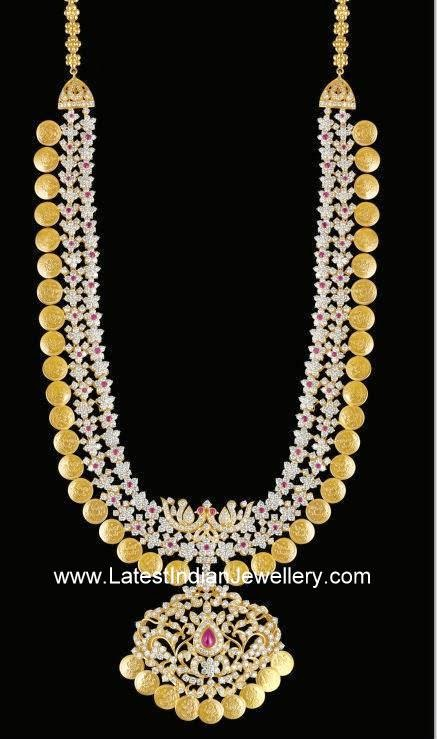 Diamond Kasulaperu Haram Latest Indian Jewellery Designs