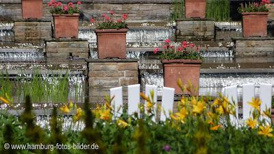 Wasserfälle in PLanten un Blomen Hamburg