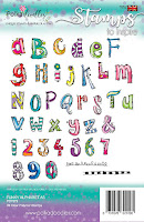 Creative Doodles Collection - Funky Alphabet A5 stamp set